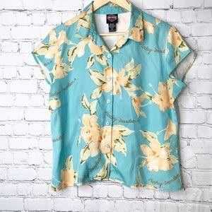 Harley Davidson | Tori Richard Silk Hawaiian Shirt